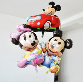 Mickey mouse and Minnie mouse foil balloons - Anagram