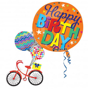 Happy Birthday Tricycle Foil Balloon - Anagram